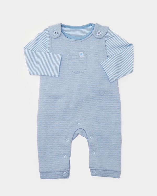 Two-Piece Quilted Dungaree (0-12 months)