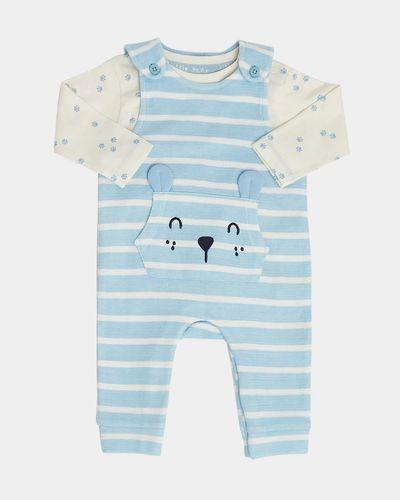 Stripe Textured Dungaree Set (Newborn-12 months) thumbnail