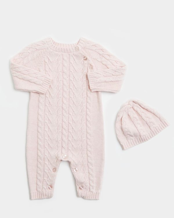 Two-Piece Cable Romper (0-12 Months)