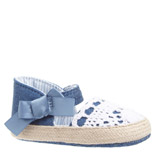 denim Girls Crochet Shoes