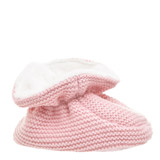 baby-pink Girls Knit Bootie