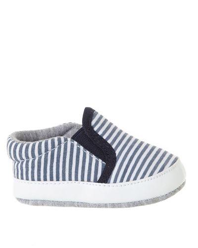 Stripe Slip On Shoes