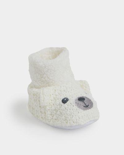 Knit Bear Bootie
