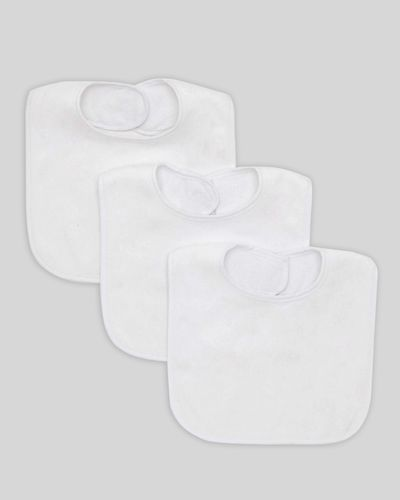 Baby Terry Bibs - Pack Of 3