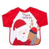 red Christmas Bib With Sleeves