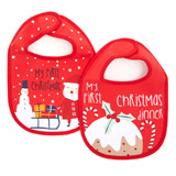red Christmas Bibs - Pack Of 2