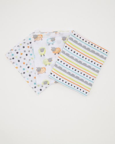 Animal Muslin Cloth - Pack Of 3