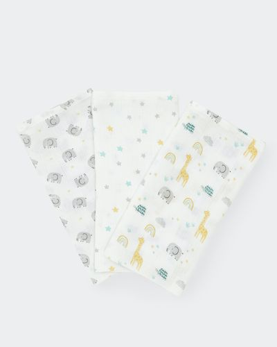 Printed Muslin Cloth - Pack Of 3