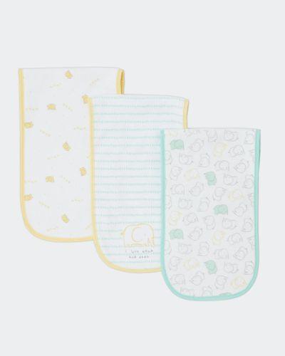 Elephant Burp Cloth - Pack Of 3