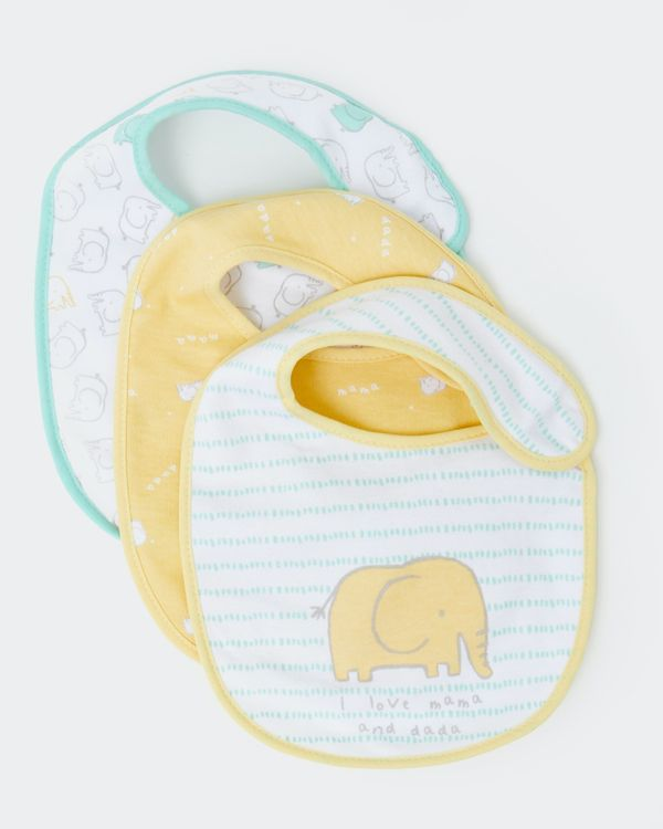 Elephant Bibs - Pack Of 3