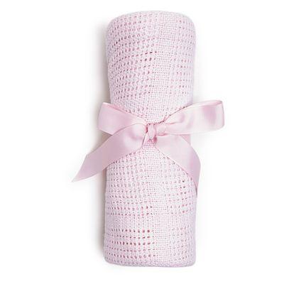 Pink Cellular Shawl