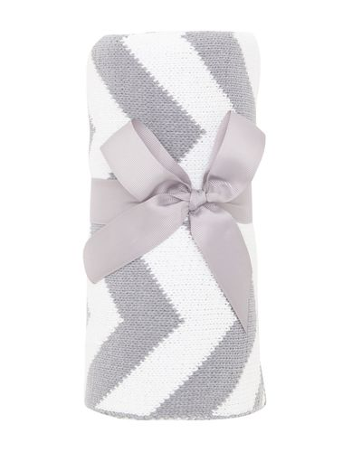 Chevron Chenille Blanket