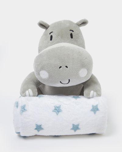 Hippo Teddy Blanket