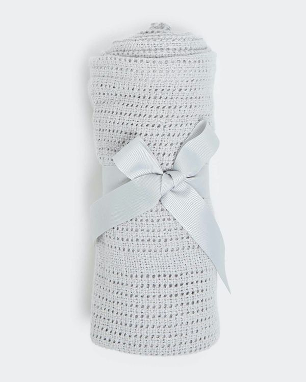 Grey Cellular Blanket