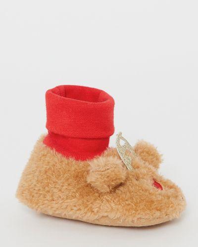 Reindeer Sock Top Booties