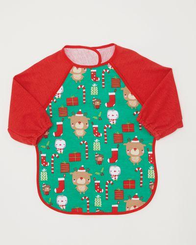 Christmas Bib With Sleeve