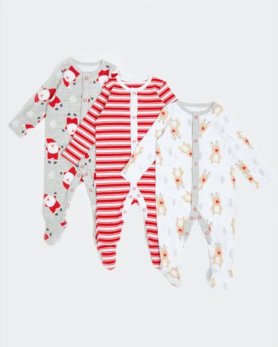 Christmas Sleepsuits - Pack Of 3