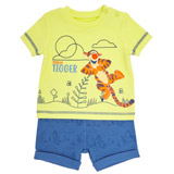 yellow Tigger Shorts Set