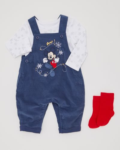 Three-Piece Mickey Mouse Dungaree Set (0-12 months)