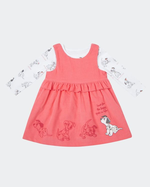Two Piece Dalmatians Cord Dress Set (0-12 months)