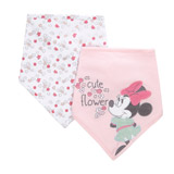baby-pink Minnie Mouse Bibs - Pack Of 2