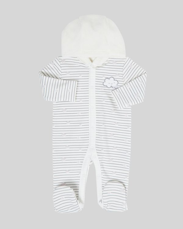 Hooded Jersey all-in-one (Newborn-12 months)