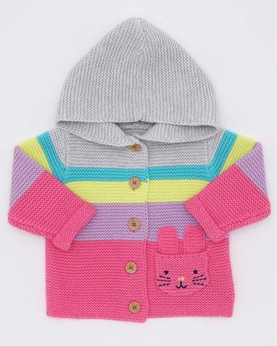 Pretty In Pink Stripe Cardigan (0-12 months)