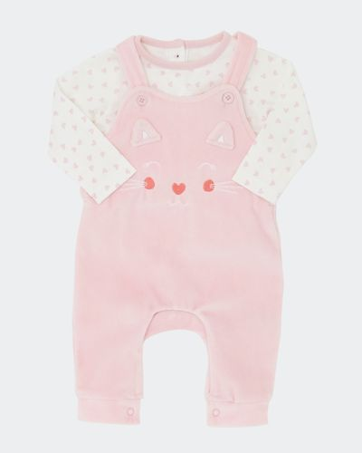 Two-Piece Velour Dungaree (0-12 months) thumbnail