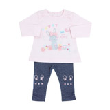 baby-pink Bunny Two-Piece Set