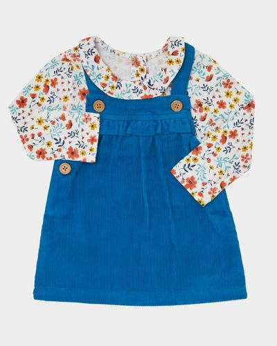 Two-Piece Cord Pinny Dress (0-12 months)