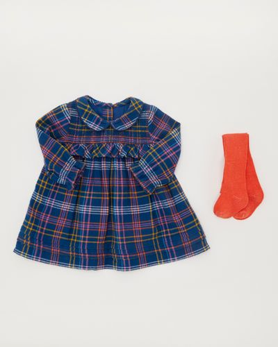 Smock Check Dress Set (0-12 months)