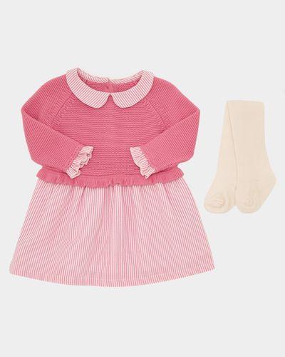 Pink Knit Shirt Dress (0-12 months)