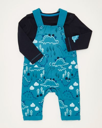Two Piece All-Over Print Dungaree Set (0-12 months)