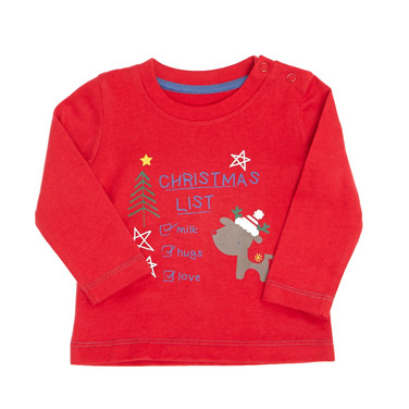 redMy First Christmas Boys Top