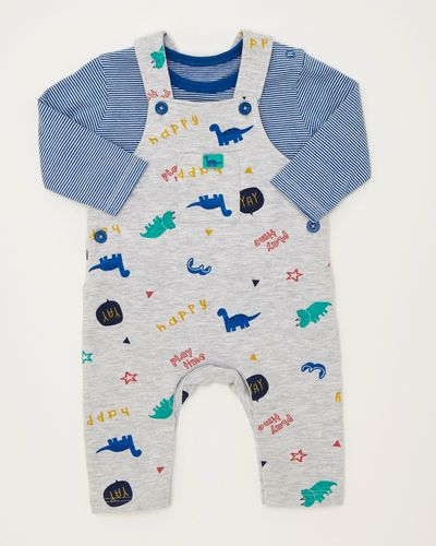 Two Piece All-Over Print Monster Dungaree (0-12 months)