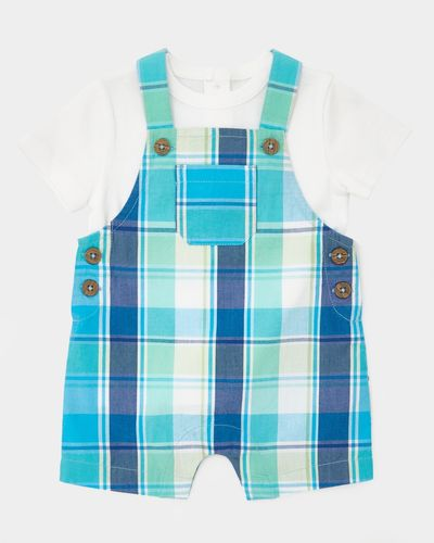 Two-Piece Check Short Dungaree (0-12 months) thumbnail
