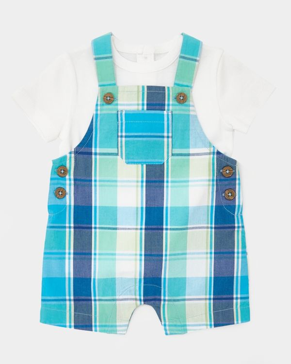 Two-Piece Check Short Dungaree (0-12 months)