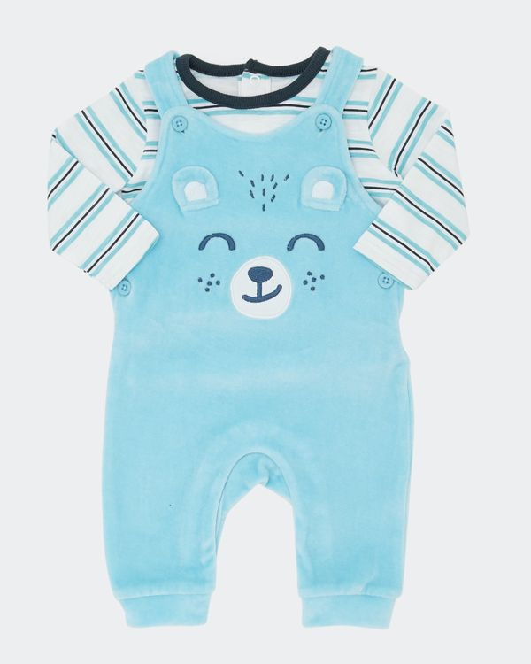 Two-Piece Velour Dungaree (0-12 months)