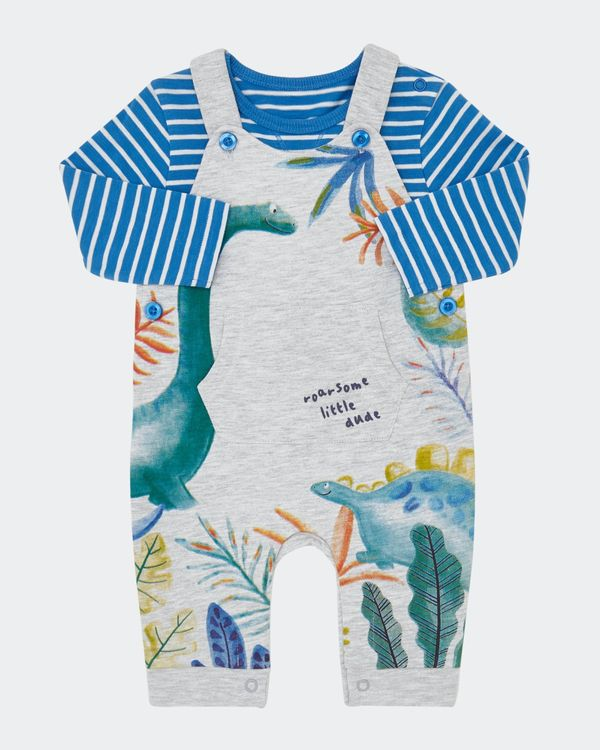 Two-Piece Dino Dungaree (0-12 months)