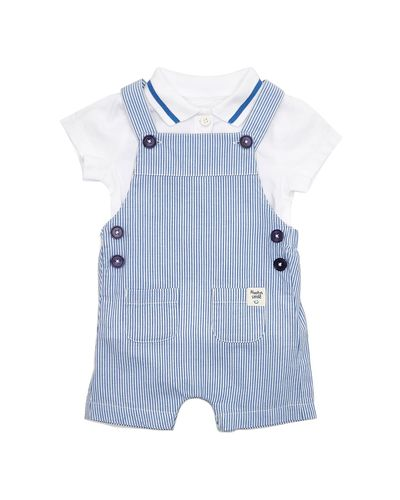 Two Piece Stripe Dungarees Set (0-12 months)