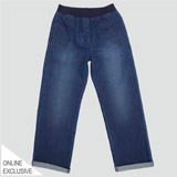 denim Girls Wide Leg Jeans