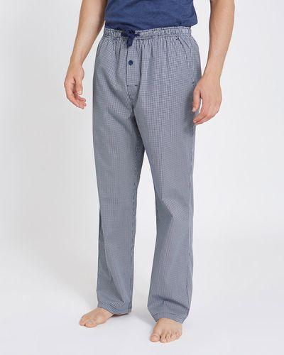 Printed Woven Check Pants