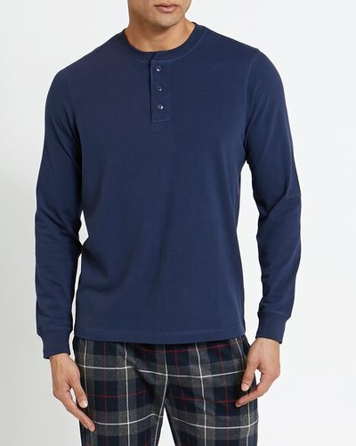 Long-Sleeved Henley Top