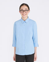 blue Easy Care 3/4 Sleeve Blouse - Pack Of 2