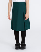green Box Pleated Skirt