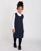 navy Pleated Pinafore
