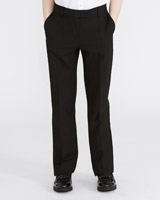 black Regular Leg Stretch Trousers
