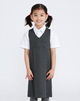 grey Double Breasted Pinafore
