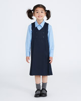 navy Double Breasted Pinafore