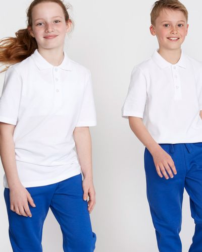 Unisex Pure Cotton Short-Sleeved Polo Shirts - Pack Of 2